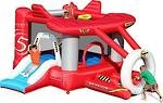 Skykids Airplane Jumping Castle hire for $120 for the day.    Kids can enjoy jumping and sliding, playing in the ball pit, it also features a basketball hoop and comes with 50 plastic balls.     This is a great castle for any child that loves planes.       Dimensions:  4.8m L x 2.8m W x 1.8m H.     Maximum age of children: 5 years.     Maximum number of children: 3.        This castle is suitable for smaller Birthday Parties.