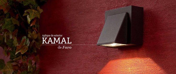 Aplique de pared Kamal Led de Faro Barcelona ideal para iluminar tus zonas exteriores. Aplique de exterior. #aplique #wallLamp #Faro #lamps #iluminacion #iluminaiconExterior #lights #luces