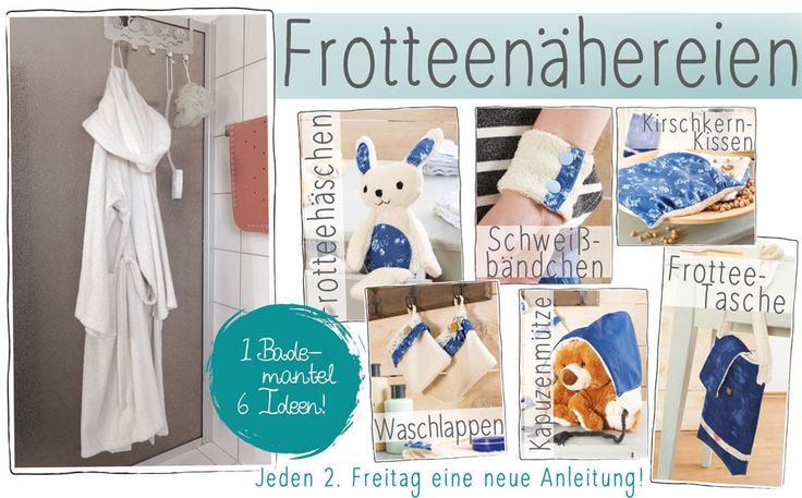 Upcycling / Recycling Alter Bademantel - Nähen mit Frottee