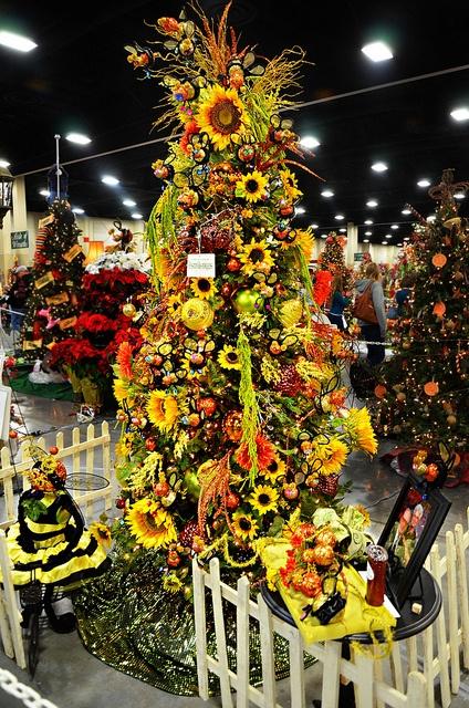 Festival Of Trees Sunflower Tree By Tmlizzy Irwin Via