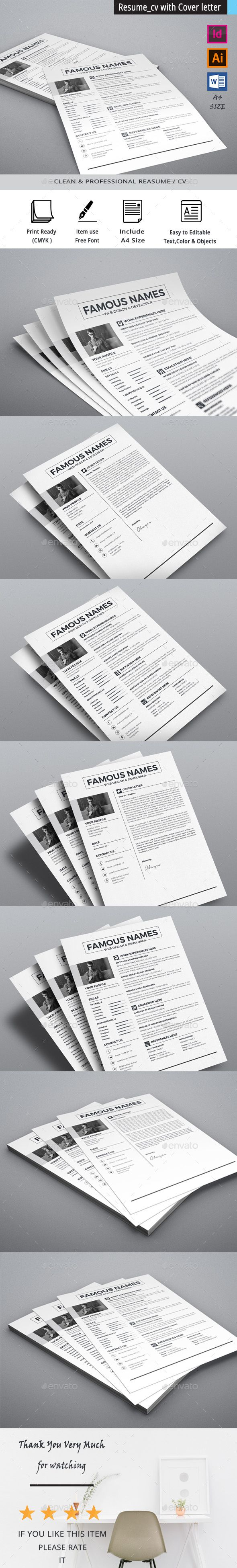 Clean Resume Download%0A  Minimal  simple  clean  modern  The  Resume  template  download