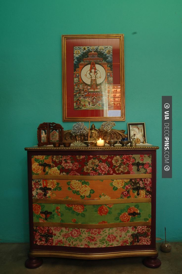 decoupage ideas for furniture. Boho Decor Bliss ⍕⋼ Bright Gypsy Color \u0026 Hippie Bohemian Mixed Pattern Home Decorating Ideas - Painted Dresser Decoupage For Furniture