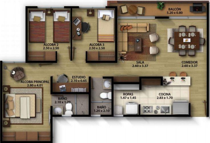 Apartamentos 3 Recamaras