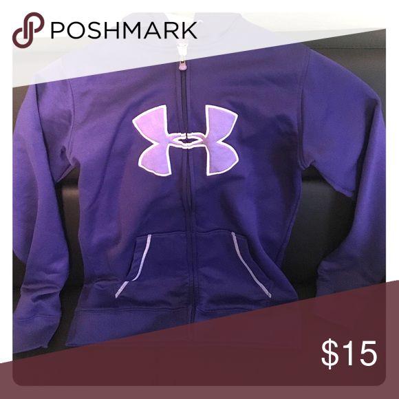 Under Amour purple zip up Comfortable purple under armour zip up with hood Under Armour Tops Sweatshirts & Hoodies