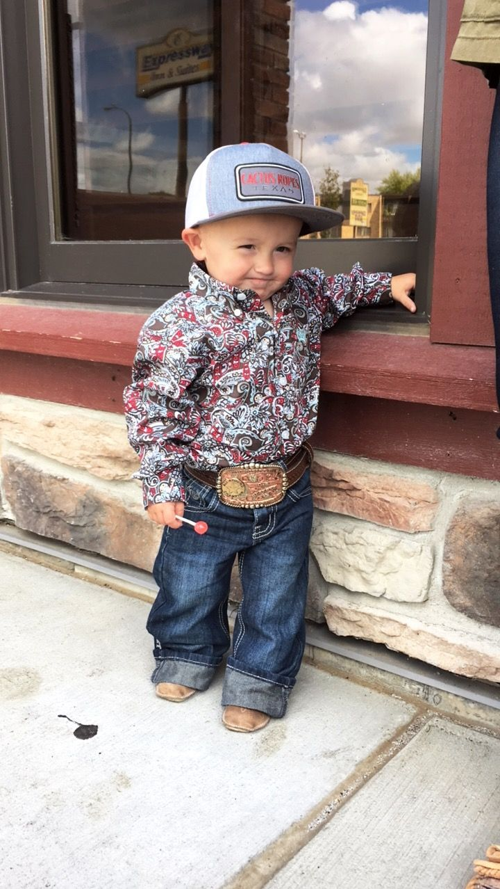 Little cowboy #cactusropes #cinch #toddler #western #beltbuckle