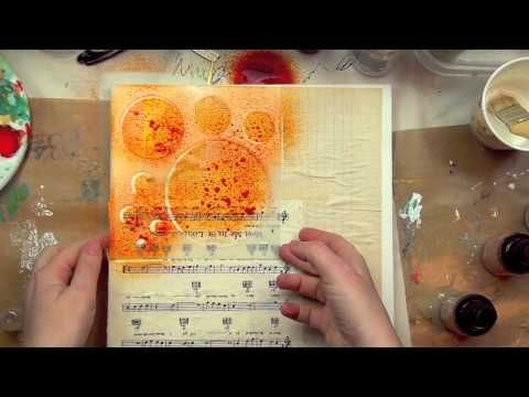 Christy Tomlinson Stencils and Masks-part 1 of 3, mixed media