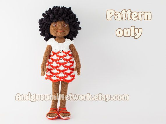 **********************************************************************************  IMPORTANT!!! This is a crochet pattern PDF - NOT the finished toy!  **********************************************************************************  Hello!  Here is the pattern to make beautifull doll. I named her Christy. The pattern is very detailed. This is an instant digital download PDF pattern (Ready to download immediatelly after the payment).  Finished size: The finished doll size is about 38 cm…
