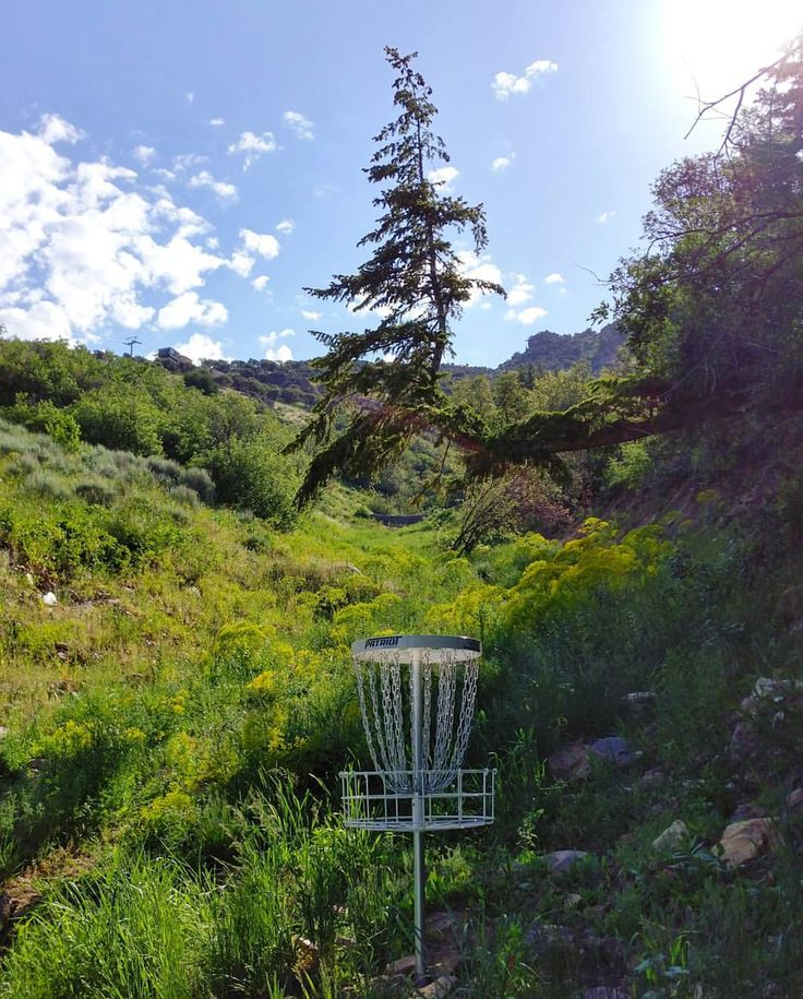 Hole 1 at Cherry Peak Disc Golf Course - Richmond Utah