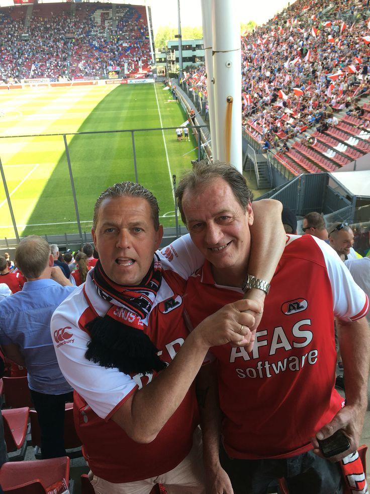 Utrecht -AZ 1-3 op 8 mei 2016. Vierde plek veilig gesteld inclusief Europees voetbal.