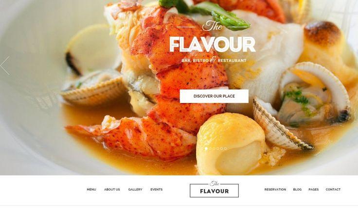 Restaurant WordPress Theme The Flavour
