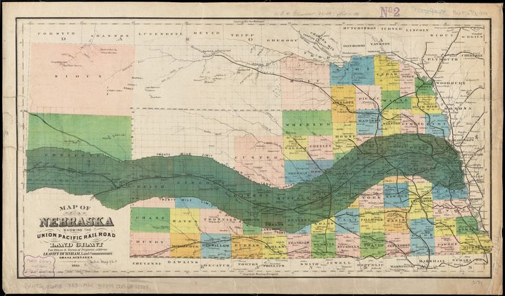 wow this is a map of nebraska showing the union pacific railroad land grant