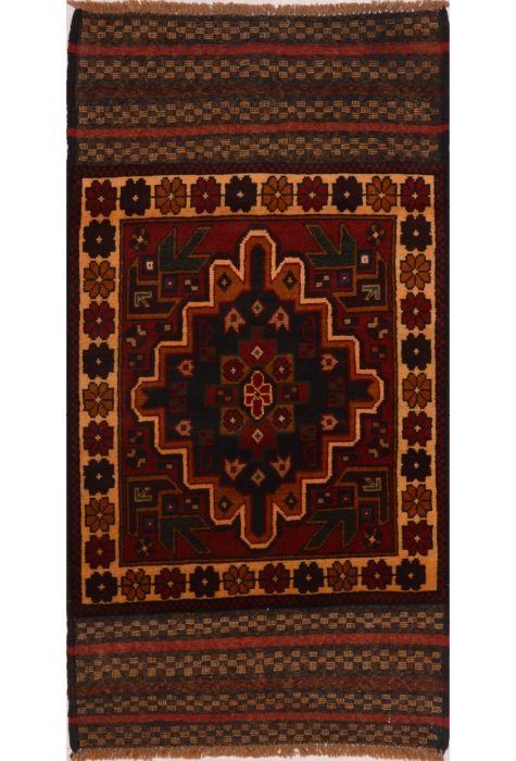 Balochi Afghan rug. Wool. Hand Knotted. 84 x 155 http://www.rugman.com/afghan-balochi-design-oriental-area-rug-small-size-wool-red-rectangle-103-17983