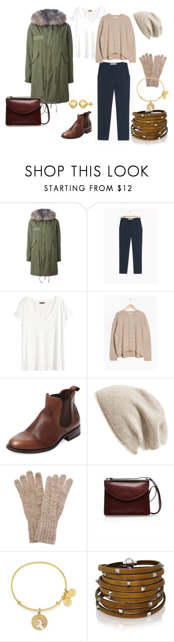 """""""Valentina cold weather weekend relaxed set"""" by stainlessstyle ❤ liked on Polyvore featuring Mr & Mrs Italy, H&M, n.d.c., Halogen, White House Black Market, Carven, Alex and Ani, Sif Jakobs Jewellery and Sevil Designs"""
