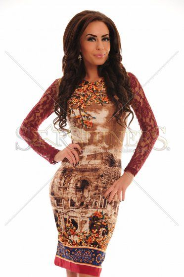 Rochie LaDonna Secret Garden Brown