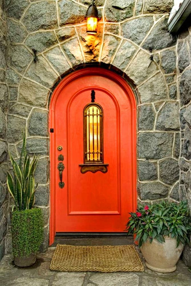 40+ Exterior Red Door Paint Color Styles That Are Gorgeous