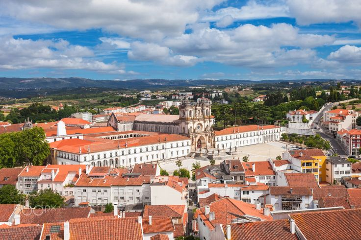 The Alcobaca Monastery - Aerial view of Alcobaca Monastery in Alcobaca, Portugal