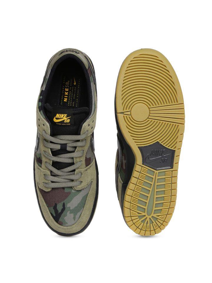 Buy Nike Men Olive Green Printed ZOOM