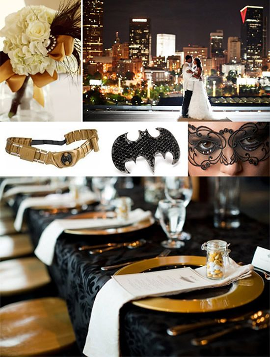 super hero wedding | The classiest superhero themed wedding yet: the Batman themed wedding ...