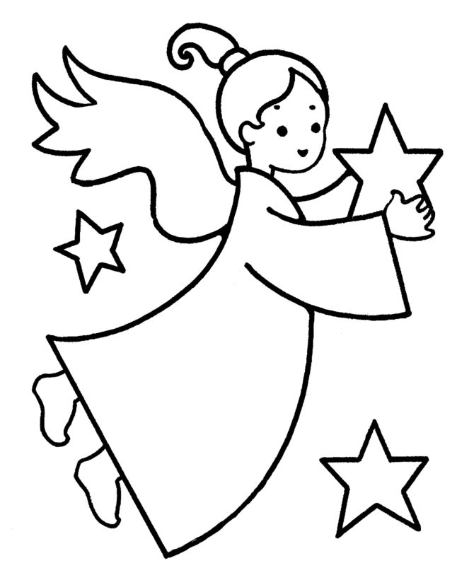 Online Christmas Coloring Book Printables Star PagesSimple
