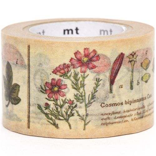 wide mt Washi Masking Tape deco tape with plants 1