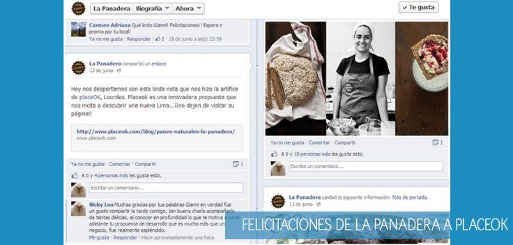 """""""Hoy nos despertamos con esta linda nota que nos hizo la artífice de placeOK, Lourdes. Placeok es una innovadora propuesta que nos incita a descubrir una nueva Lima...¡¡no dejen de visitar su página!!"""" Giannina Rotondo de La Panadera (Barranco, Perú)  Gracias Gianni por tus palabras."""