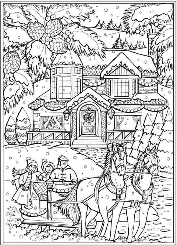 6 Country Christmas Coloring Pages Christmas Coloring Books Printable Christmas Coloring Pages Free Christmas Coloring Pages