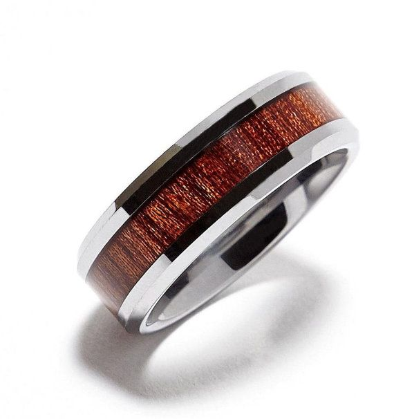 Buy Tungsten Wedding Band,Tungsten Carbide,Tungsten Ring, 8mm Tungsten Carbide Wood Inlay Wedding Ring Comfort Fit by jewelrysquare. Explore more products on http://jewelrysquare.etsy.com