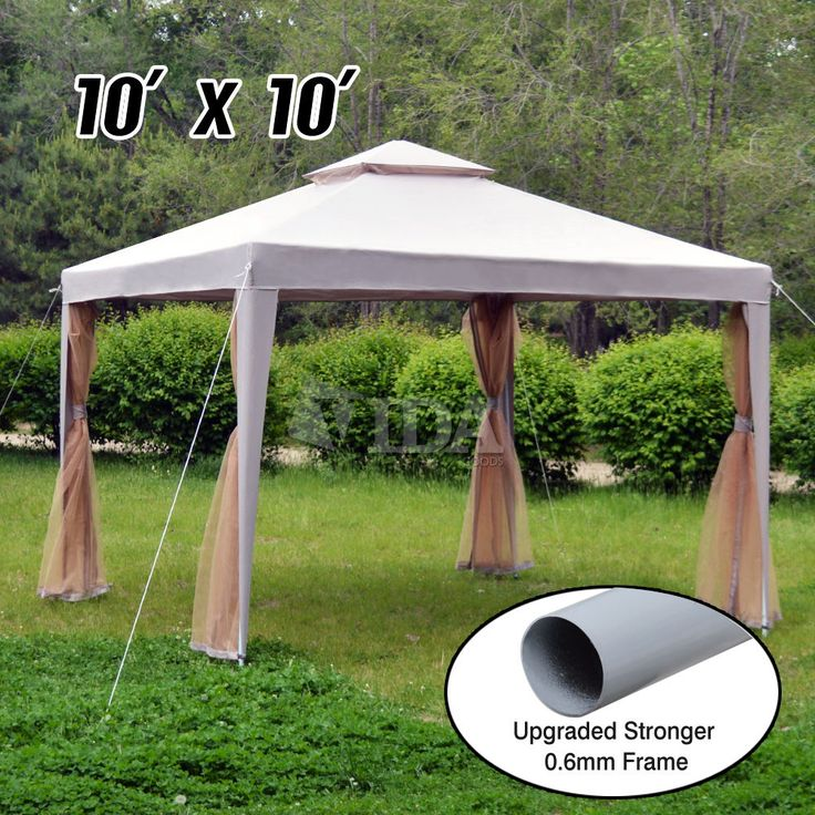 10x10 Canopy Party Wedding Outdoor Tent Heavy Duty Gazebo Pavilion Cater Events
