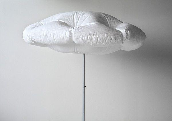 «Cumulus Parasol»: автоматически раскрывающийся пляжный зонт. (5 фото)
