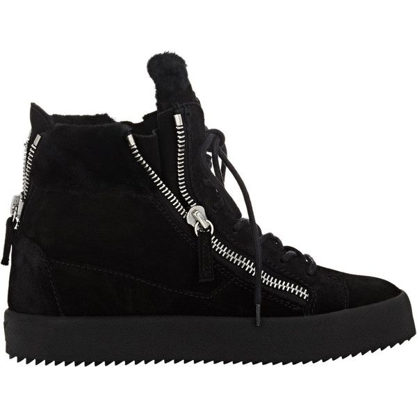 Giuseppe Zanotti Women's Shearling-Lined Double-Zip Sneakers (2.705 BRL) ❤  liked