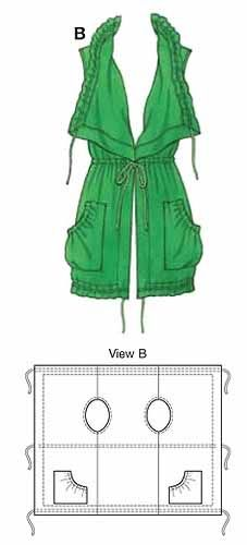 Выкройки одежды из одного полотна