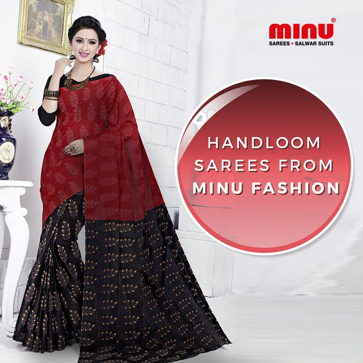 Get your hands on the trend of the season – Handloom Sarees from Minu Fashion. Shop here: http://www.minufashion.com/Sarees/Handloom Whatsapp: +91 9674803887 | Call: +91 33-40669241 #Minu #cotton #sarees #salwarsuits #indianwear #ethnicwear #onlineshopping #womenswear #traditional #draping #sale
