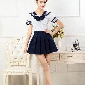 Opcional multi-color tentación de los uniformes ds lindo uniforme escolar japonés uniforme escolar falda marinero sexy vestido de traje de Cosplay