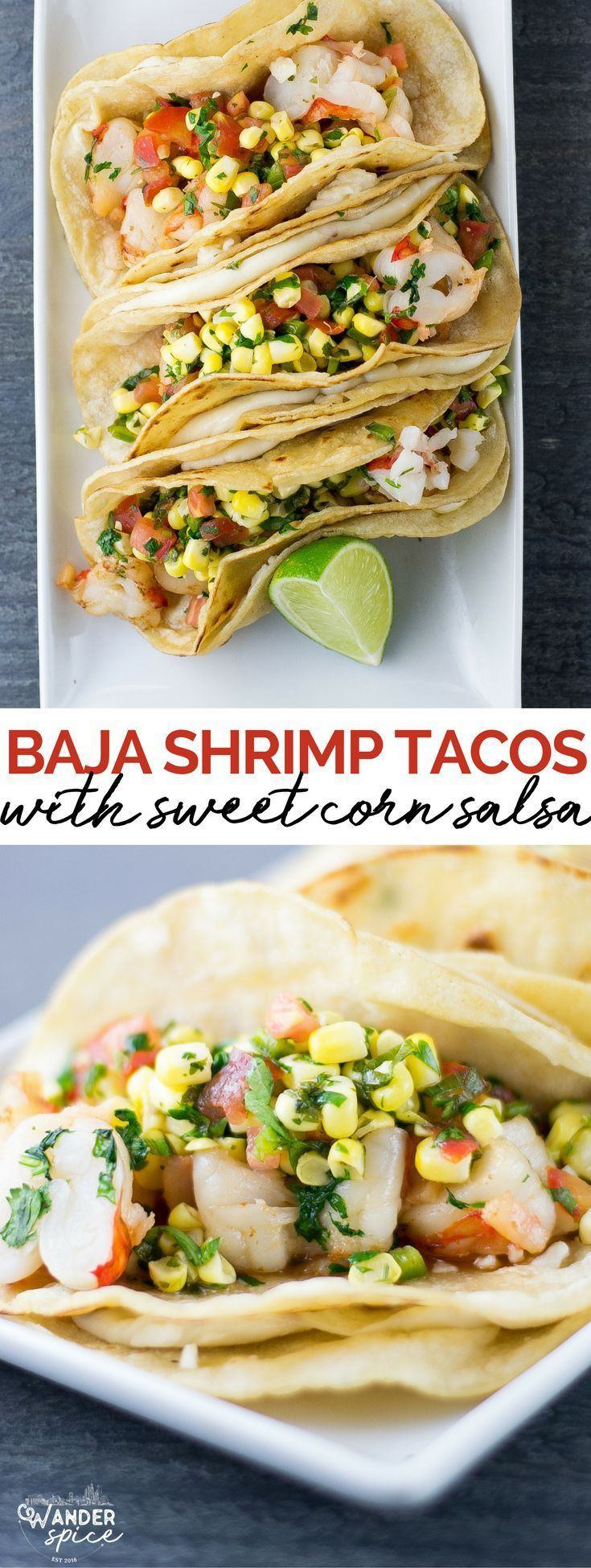 Shrimp Tacos with Corn Salsa | shrimp | tacos | Mexican | seafood | corn | salsa #mexicanfoods #tacos #recipes