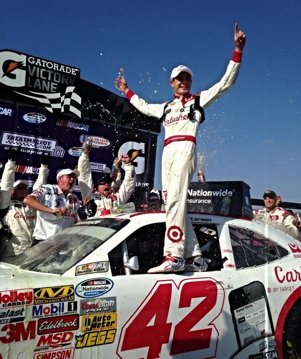 Kyle Larson Wins Nationwide Race At Fontana March 22 2014