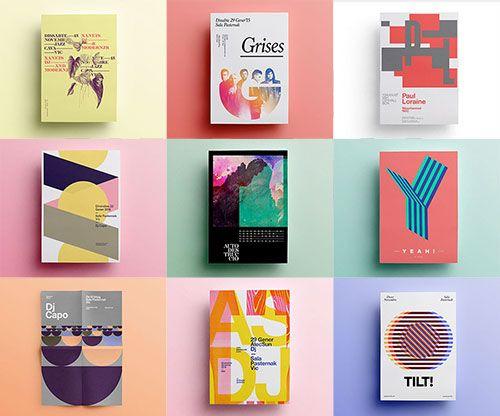 海报设计灵感:简约独特的图形图案排版 by Quim Marin   设计达人