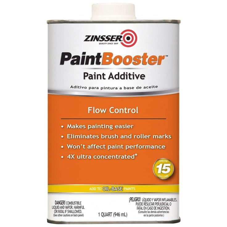 Zinsser 1-qt. Paint Booster Flow Control Additive for Oil-Based Paint (Case of 4)