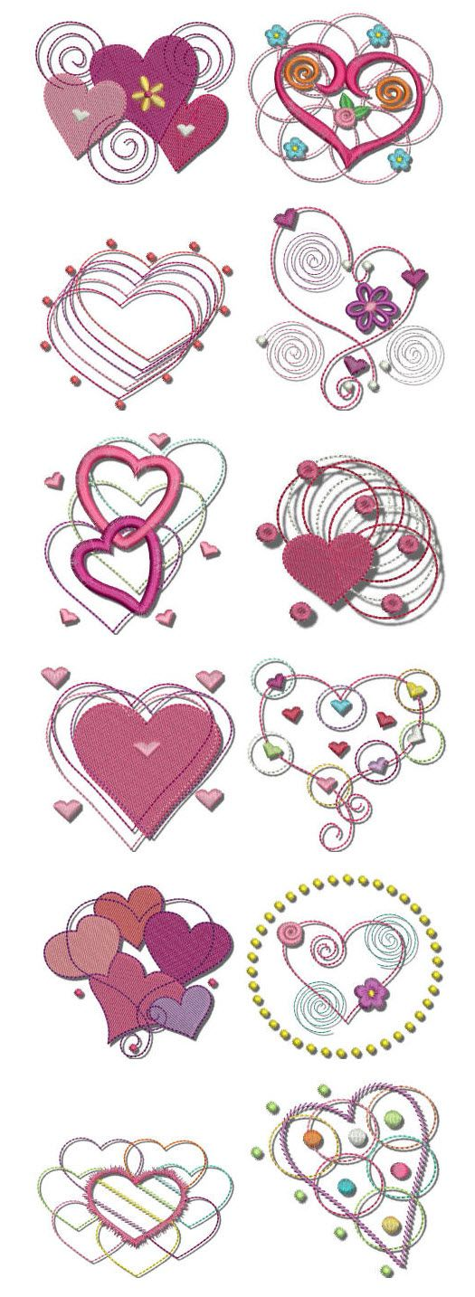 """Part of our popular """"Dots n Doodles"""" series, Hearts n Doodles is a fantastic whimsical set that is great for Valentine's Day, or any day! #DesignsbyJuJu"""