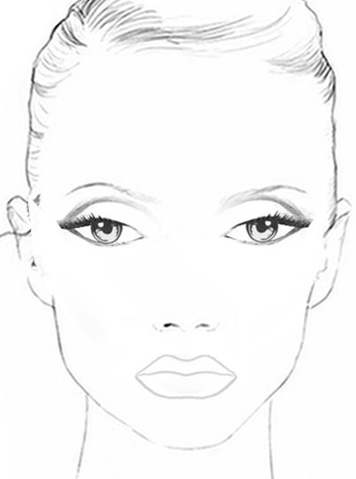 printable face coloring pages | face+chart.jpg (403×542) | Color: People/Ladies ...