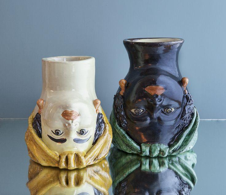 CristaSeya Testa de Moro Vases