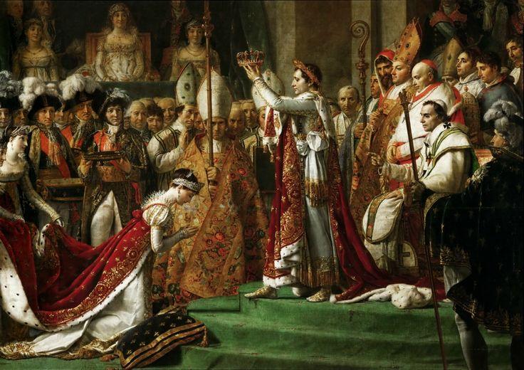Жак-Луи Давид. Посвящение императора Наполеона I и коронование императрицы Жозефины в соборе Парижской Богоматери 2 декабря 1804 года. 1805-1808 гг.