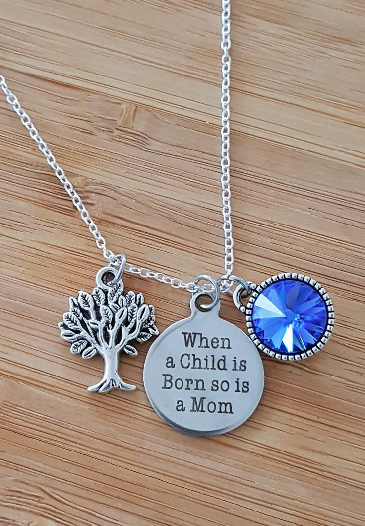 jewelry footprint mommy stamped name baby you present personalized before i necklace push loved hand