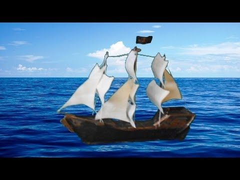 Maqueta barco pirata con materiales reciclables - YouTube