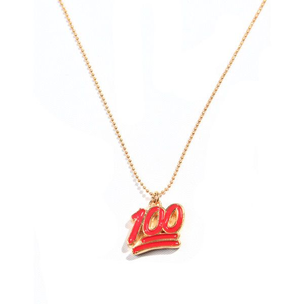 100 Emoji Necklace ($150) ❤ liked on Polyvore featuring jewelry i necklaces