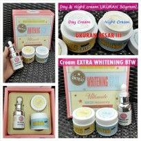 Cream Extra Whitening merupakan krim wajah yang berjerawat, efektiv untuk menuntaskan flek, komedo, bintik-bintik di wajah, serta jerawat dan noda bekas jerawat.