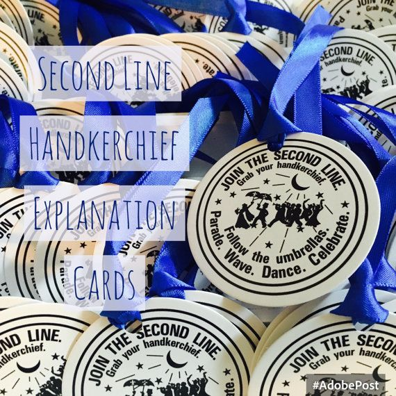 second line handkerchiefs Explanation card Second Line Hankies water meter ribbon .50 cents New Orleans Free shipping with another item