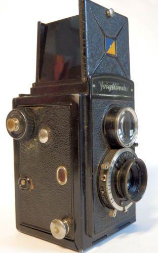 Works-Antique-Voigtlander-Brillant-TLR-120-Film-6x6-camera-Compur-Anastigmat