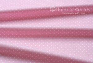 Bawełna różowe kropki