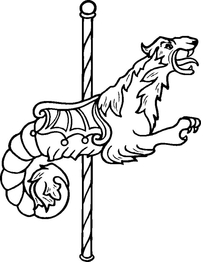 coloring pages of carousel zebra - photo#25