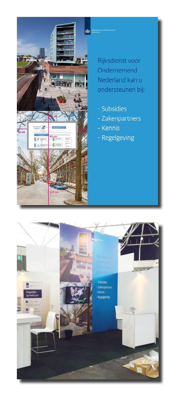 Ontwerp en uitwerking Eye Catcher Wall voor Holland Building Beurs in de Rai. 4000 bij 3000 mm Incl beeldredactie, beurs en klant contact
